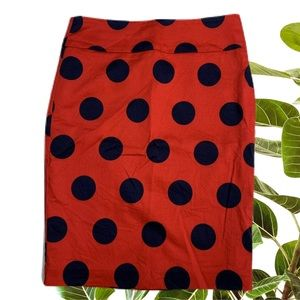Review Red Pencil Skirt Navy Polkadot Size 8